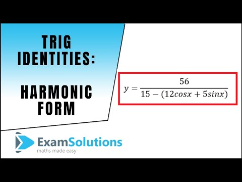 Trig. Identities - Harmonic Form - Max and Min Values (Part 2) : ExamSolutions Maths Revision