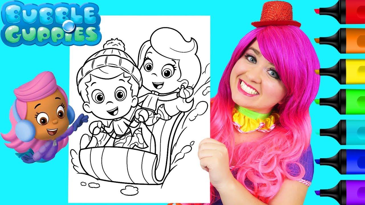Coloring Bubble Guppies Molly Gil Christmas Coloring Page