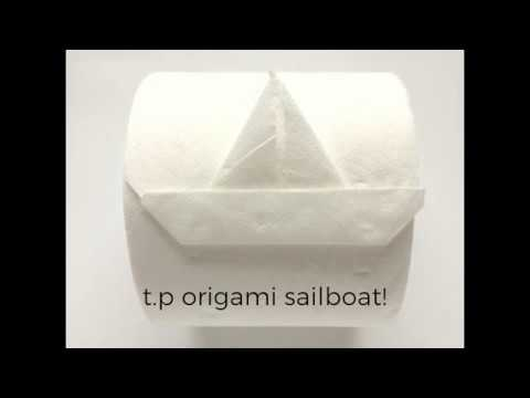 Origami Toilet Paper Sailboat