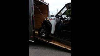 Polaris Ranger in 7 x 16 Lark Cargo Trailer