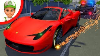 The police are at a loss. Sports cars are missing in the city - ANIMATION