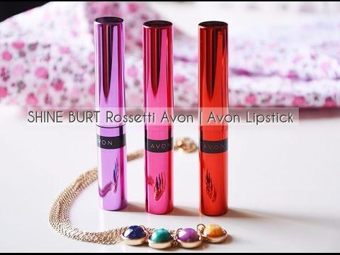 Shine Burst Rossetti Avon Avon Lipstick Swatches E Applicazione