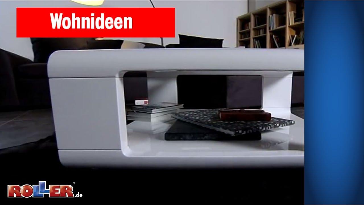 Edles Design-Wohnzimmer im Salon-Stil - ROLLER Wohnideen - YouTube