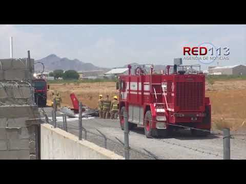 VIDEO Se accidenta avioneta en aeropuerto de Ciudad Juárez