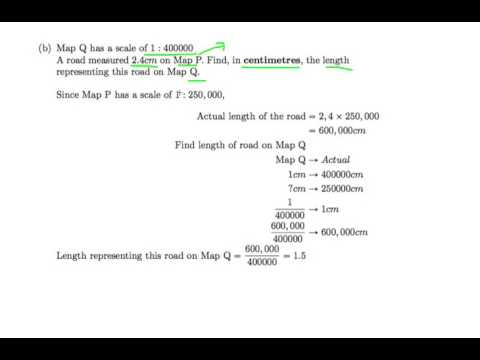 Singapore GCE 'O' Level Emath Ep.19: Convert Area scale to Linear scale