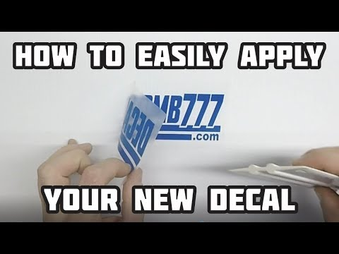 How To Easily Apply Your New Decal Sticker Tutorial Guide