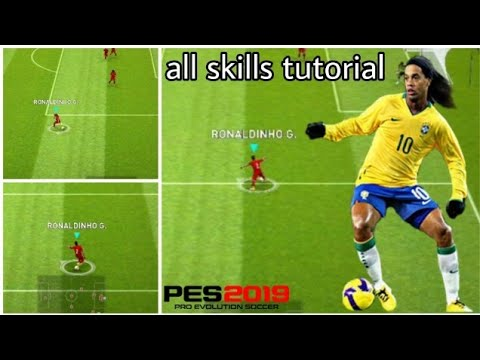 RONALDINHO G All Skills Tutorial in PES 2019 Mobile | Flip Flap Sombrero  Heel Trick