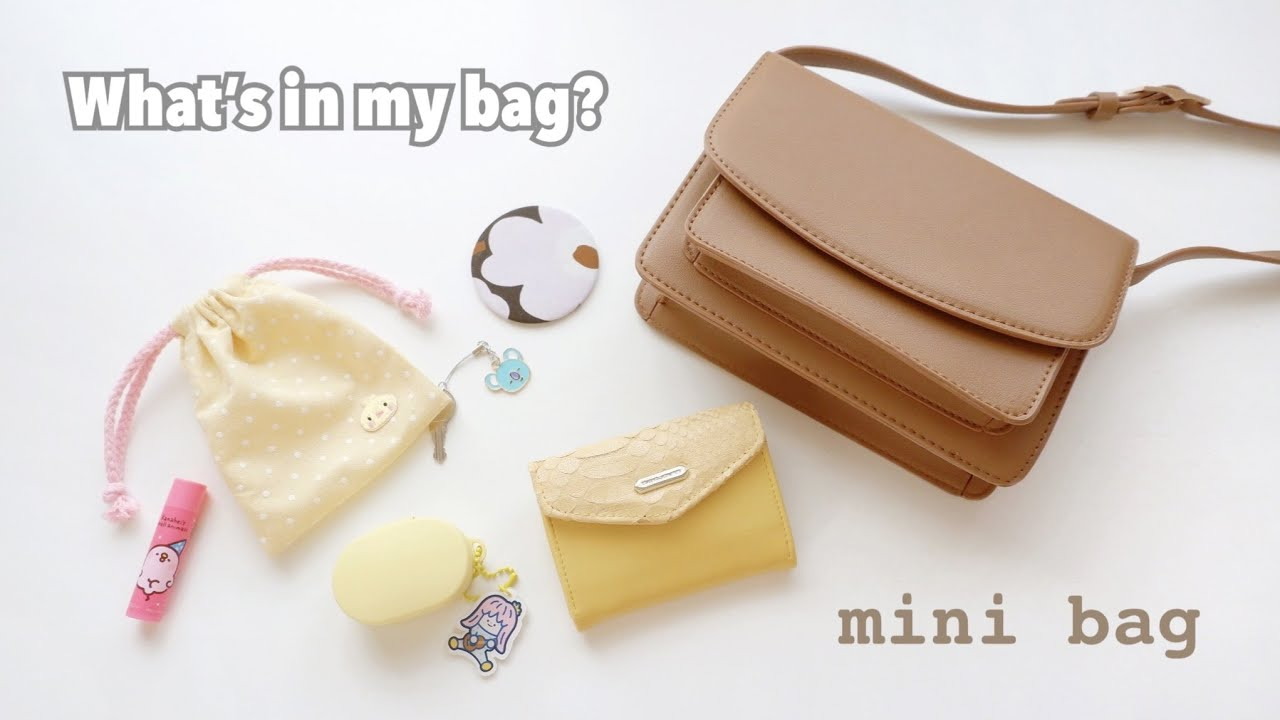 What's in my mini bag กระเป๋าสะพายหนังใบเล็ก สไตล์เกาหลี korean style bag    David Jones purse [ไทย]