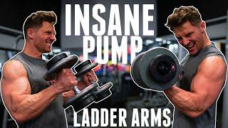 LADDER ARM WORKOUT || Insane pump!??