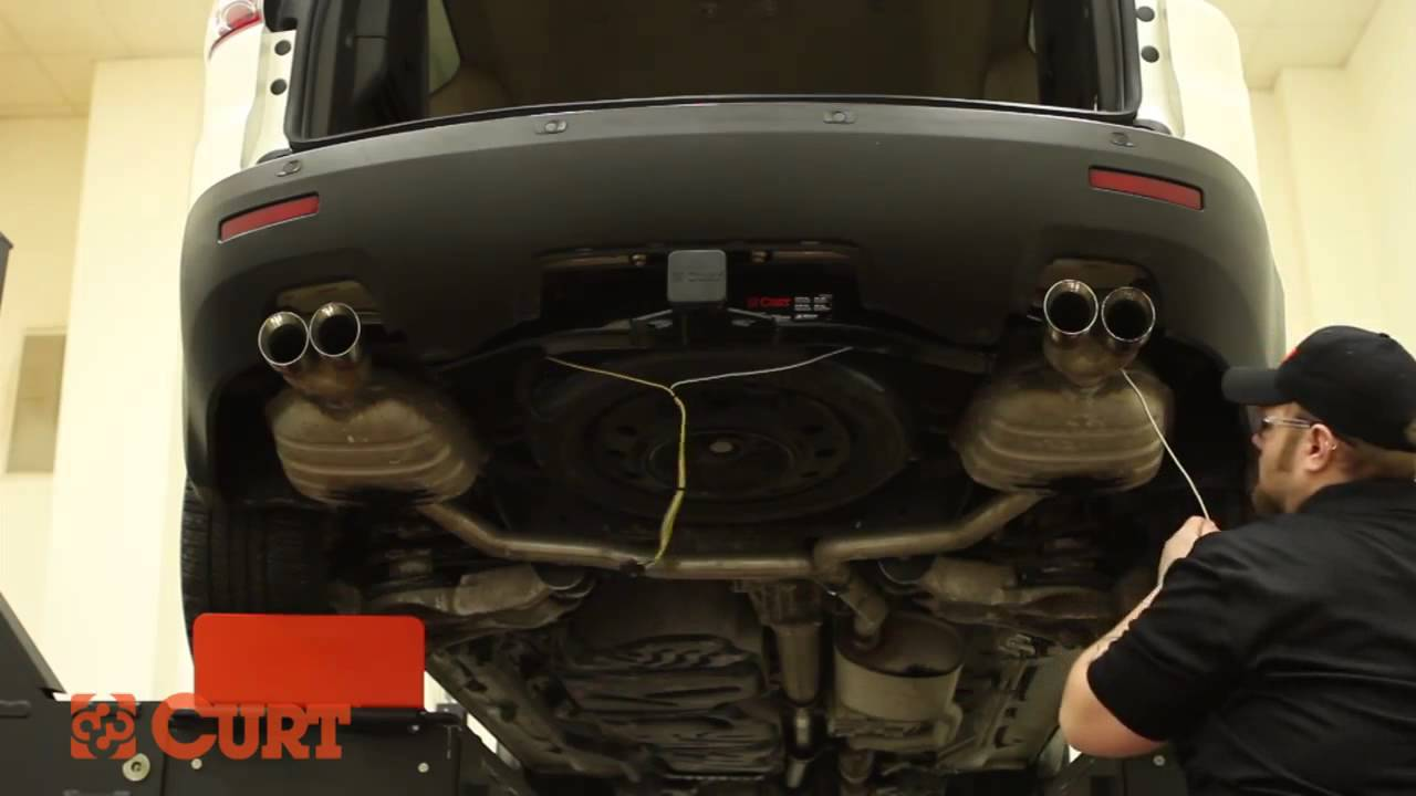 Trailer Wiring Install CURT 56056 T Connector on GMC Acadia YouTube