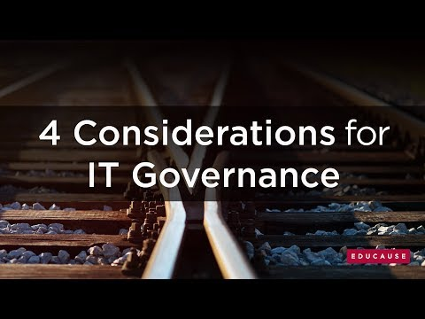 4 Considerations For IT Governance