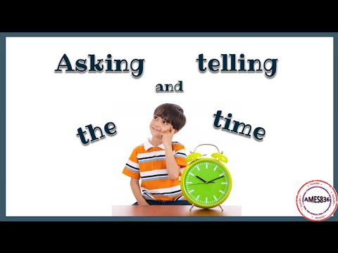 Telling the time: English language