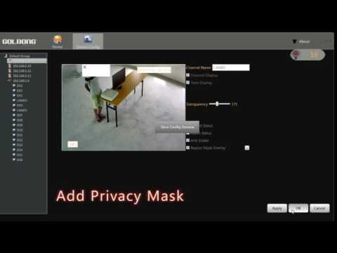 How to Add Privacy Mask with PC Software