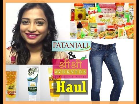 Patanjali New Products & Shri Shri Ayurveda skin Care Haul | Patanjali Swadeshi Jeans, Masala Oats