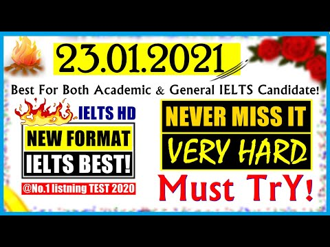 IELTS LISTENING PRACTICE TEST 2021 WITH ANSWERS | 23.01.2021