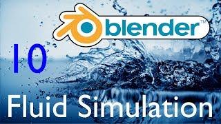 Blender урок. Симуляция жидкости. 10 - Частицы геометрией
