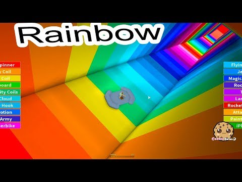 Jumping Into Rainbows  Random Roblox Game Play with Cookie Swirl C