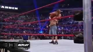 John Cena returns from injury - Royal Rumble 2008.