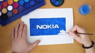 How to draw a Nokia logo