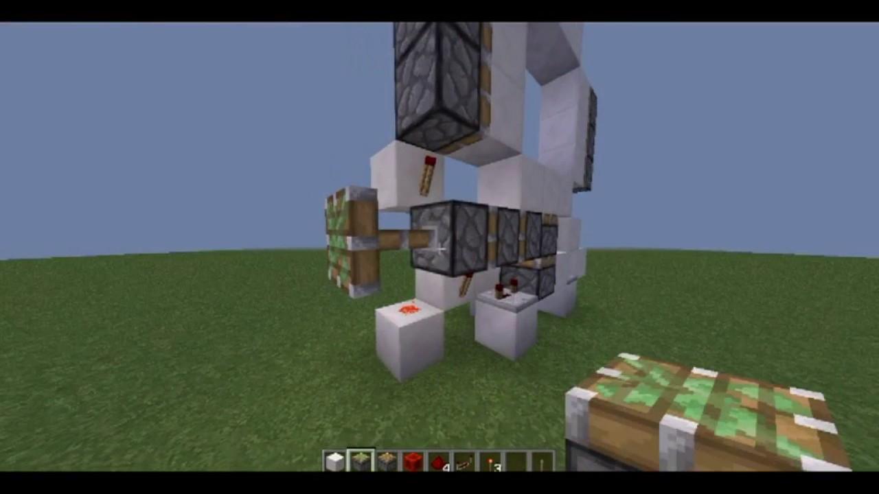 Tutorial como hacer una puerta automatica de 3x3 en for Puerta xor minecraft