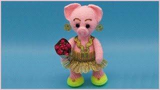 Поросенок амигуруми. Вязание поросенка крючком. Свинка крючком. Часть 1. (crochet piggy. P. 1)