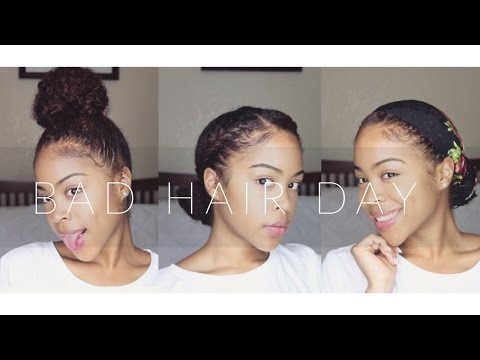 Quick And Easy Bad Hair Day Natural Hair Styles