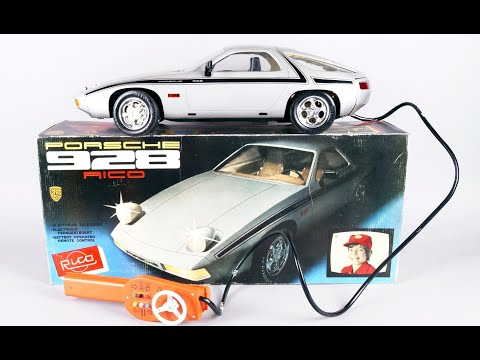 Porsche 928 Rico cable dirigido Vintage toy car big size Spanish