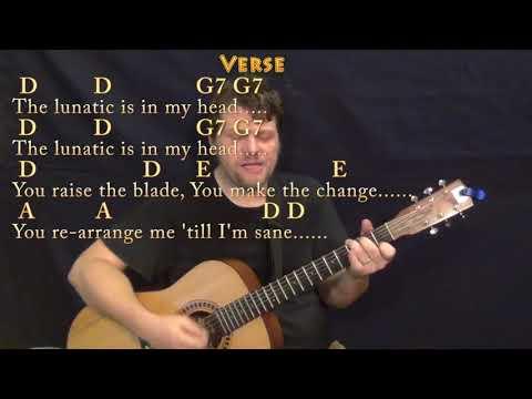 Brain DamageEclipse Pink Floyd Guitar Cover Lesson with ChordsLyrics