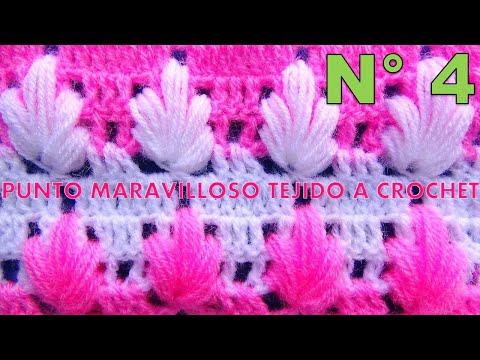 Punto maravilloso tejido a crochet # 4 para tejer mantitas para bebe