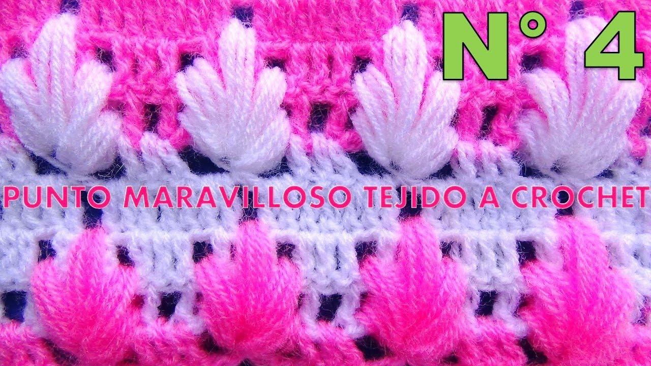 Punto maravilloso tejido a crochet # 4 para tejer mantitas para ...