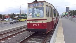 С завтрашнего дня - ремонт! Трамвай Санкт-Петербурга 9-*: ЛВС-86К б.5004 по №47 (02.08.19)