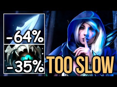 WTF Slow -76% MS Cancer Build - MidOne Skadi Drow Ranger Dota 2
