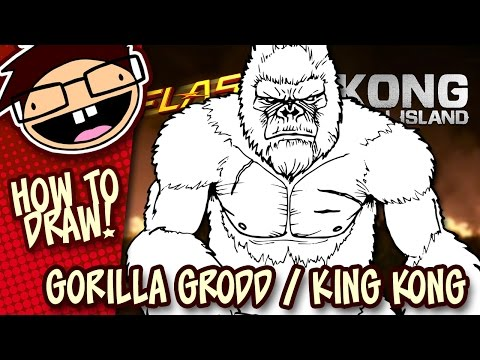 How to Draw GORILLA GRODD (The Flash) or KING KONG (Kong: Skull Island)   Easy Step-by-Step Tutorial