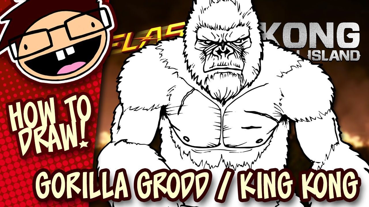 How To Draw Gorilla Grodd The Flash Or King Kong Kong Skull