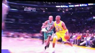 Kobe Bryant sinks bucket on Shaq
