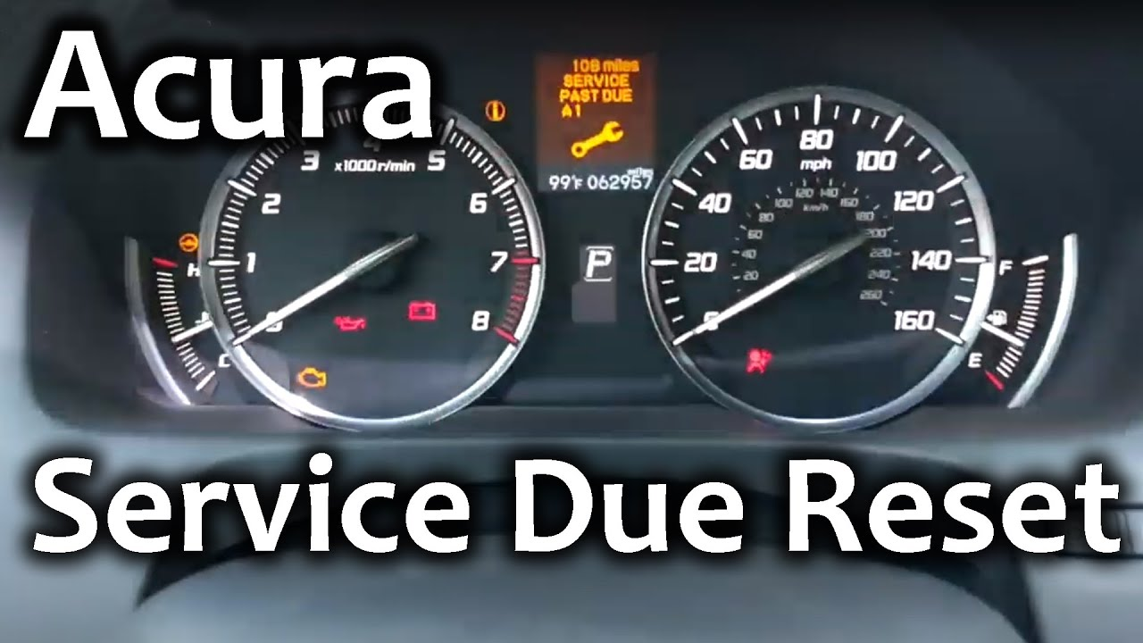 How to Reset Acura Service Due