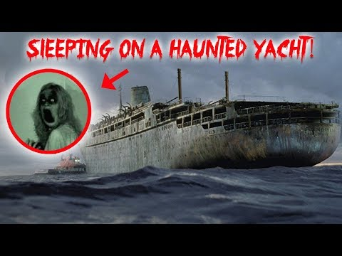 I FILMED MY SELF SLEEPING ON A HAUNTED YACHT! GHOST ACTIVITY  CAUGHT ON CAMERA!