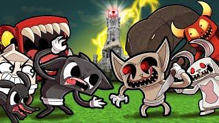 Cartoon War 1...ALBINO CAT vs CARTOON CAT! (Minecraft)