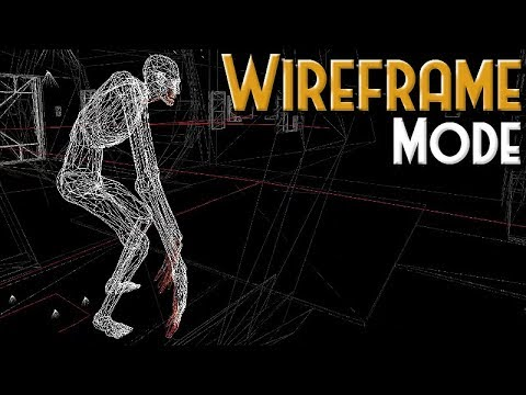SCP Containment Breach - Wireframe Mode