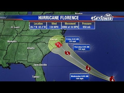 Hurricane Florence Update Tropical Weather Forecast September 11