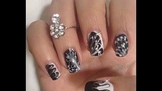 Nail Art Noir et Blanc Super Facile Sans Matériel 5 designs!