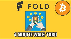 How To Earn Bitcoin Back On Your Phone With The Fold App. [4 Minute Walk-Thru]