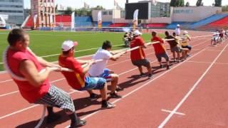 Перетягивание каната  Всероссийские сельские игры в Саратове