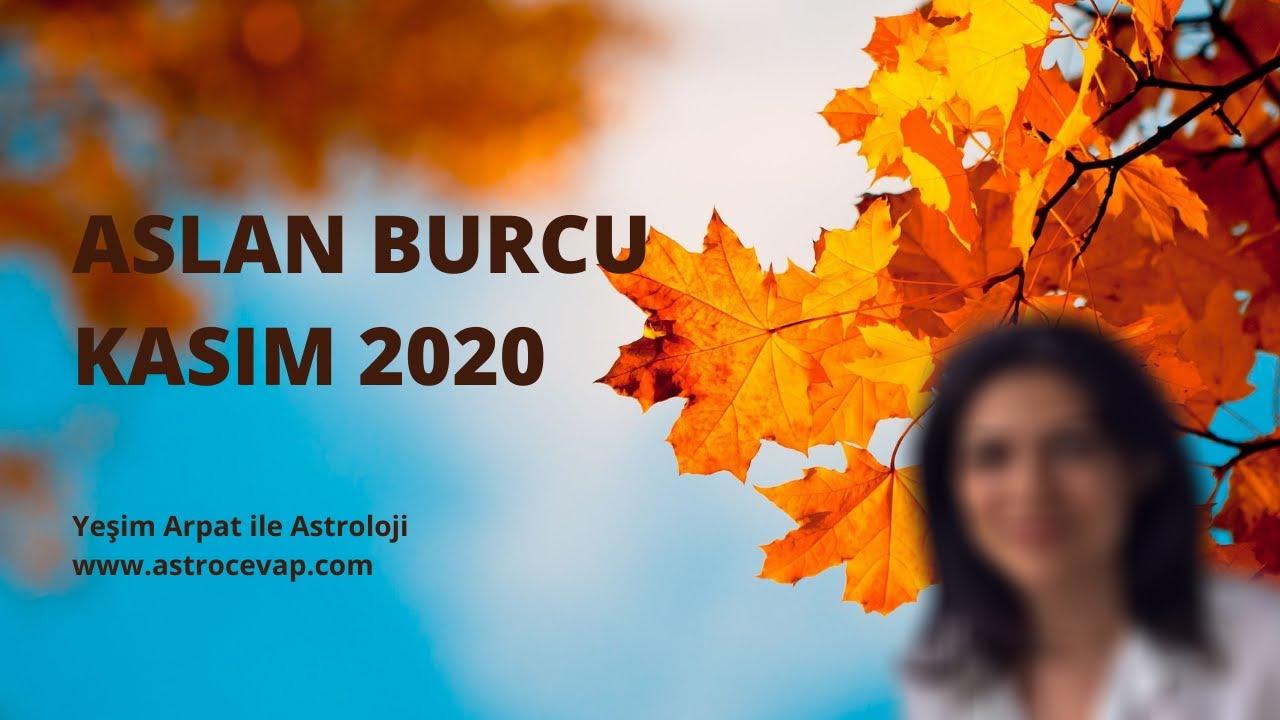 ASLAN Burcu Kasım 2020 Astroloji