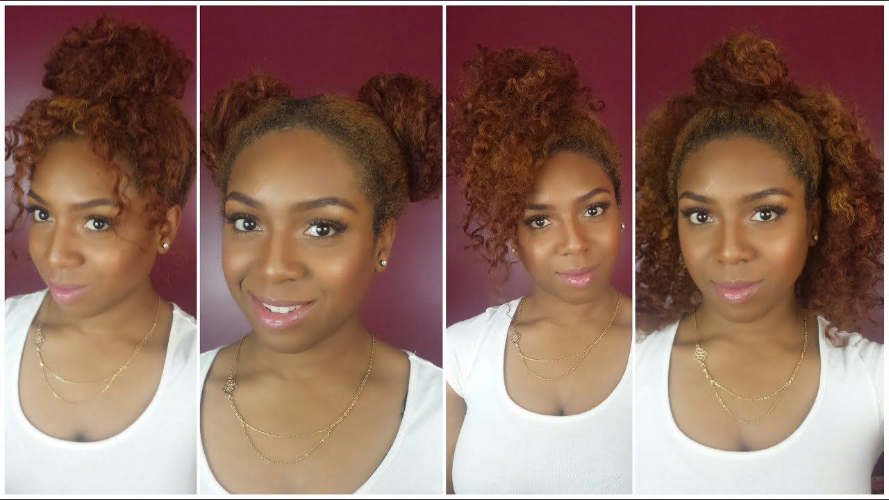 Easy Hairstyles On The Go 4 Fun Easy Hairstyles Twist Out Wash And Go Youtube