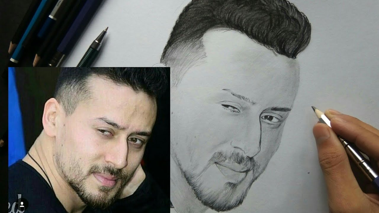 Tiger Shroff | Baaghi2 Look Drawing - YouTube