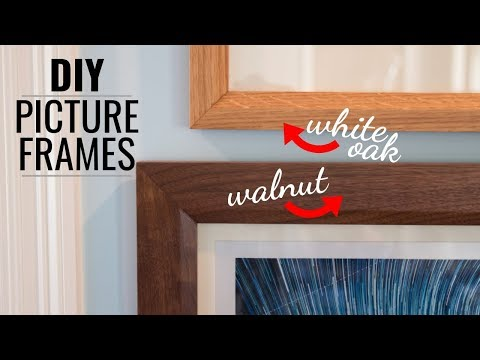 Making Picture Frames for Your Home // DIY Woodworking // Handmade Gift