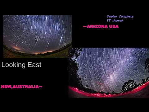 Star Trails- Southern VS Northern Hemisphere🌟Comparison;4 CARDINAL DIRECTIONS-Like in Mirror