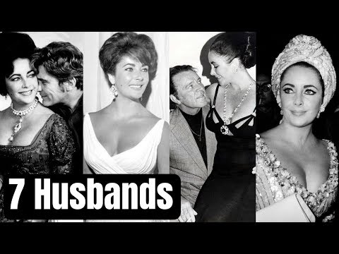 Actress Elizabeth Taylor Family Photos With 7 Husbands Conrad Hilton, Michael Wilding, Mike Todd