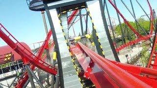 X-Flight Left Front Seat on-ride HD POV Six Flags Great America